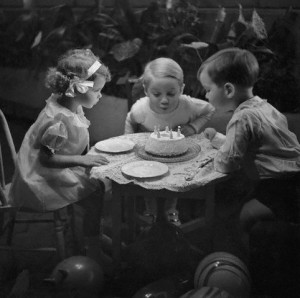 Children with Birthday Cake
